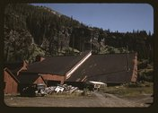 Detail of the mill at the Camp Bird Mine, Ouray County, Colorado Stock Photos
