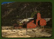Mill at the Camp Bird Mine, Ouray County, Colorado Stock Photos
