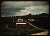 Federal housing project on the outskirts of the town of Yauco, Puerto Rico Stock Photos