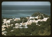 The Virgin Islands, general view of the sea coast in the vicinity of Christia Stock Photos