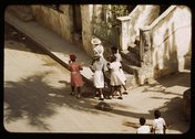 Street scene, Christiansted, St. Croix island, Virgin Islands? Stock Photos