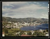 French village, a small settlement on St. Thomas Island, Virgin Islands Stock Photos