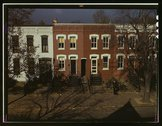 [Row houses, corner of N and Union Streets S.W., Washington, D.C.] Stock Photos