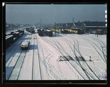 One of the yards of the Chicago and Northwestern Railroad Stock Photos
