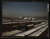 General view of a classification yard at C & NW RR's Proviso (?) yard, Chicag Stock Photos