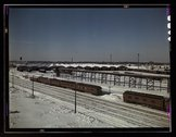 The freight house at a Chicago and Northwestern Railroad yard Stock Photos