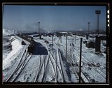 Belt Railway, looking toward the west yard of clearing yard, taken from bridg Stock Photos
