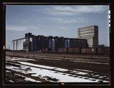 The giant 10 million bushel grain elevator of the Santa Fe R.R., Kansas Stock Photos