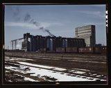 The giant Santa Fe R.R. 10 million bushel grain elevator, Kansas Stock Photos
