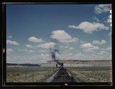 Santa Fe R.R. train stopping for coal and water, Laguna, N[ew] Mex[ico] Stock Photos