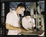 NYA employees receiving training in the Assembly and Repair Dept., U.S Stock Photos