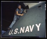 Lorena Craig is cowler under civil service at the Naval Air Base, Corpus Chri Stock Photos
