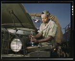 Colored mechanic, motor maintenance section, Ft. Knox, Ky. Stock Photos