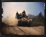 M-3 tanks in action, Ft. Knox, Ky. Stock Photos
