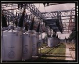 Switchyard at TVA's Wilson Dam hydroelectric plant, vicinity of Sheffield, Al Stock Photos