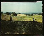 Farmland in the Taconic range, near the Hudson River Valley in New York state Stock Photos