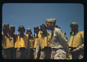 Marine lieutenants studying glider piloting at Page Field, Parris Island, S.C. Stock Photos