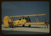 Marine power plane which tows the training gliders at Page Field, Parris Isla Stock Photos