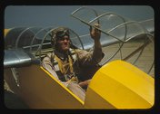 Marine lieutenant, glider pilot in training, at Page Field, Parris Island, S.C. Stock Photos