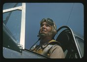 Marine Lieutenant, glider pilot in training at Page Field, Parris Island, S.C. Stock Photos