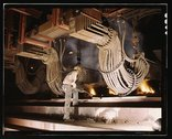 Large electric phosphate smelting furnace used in the making of elemental pho Stock Photos