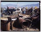 Scrap and salvage depot, Butte, Montana Stock Photos