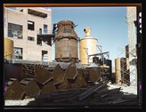 Southland Paper Co., Kraft pulp mill under construction, Lufkin, Texas Stock Photos
