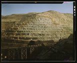Open-pit workings of the Utah Copper Company, Bingham Canyon, Utah Stock Photos