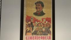 Mao Zedong Poster Stock Footage