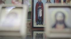 christian symbols cross icon - stock footage