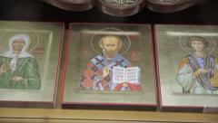 Christian symbols cross icon Stock Footage