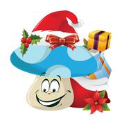 christmas cartoon face emotions - stock illustration
