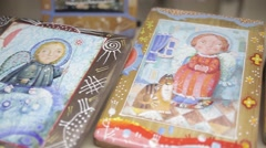 Christian symbols cross icon.mp4 Stock Footage