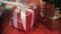 Christmas  holiday presents gifts new year Christmas-tree decorations Stock Footage
