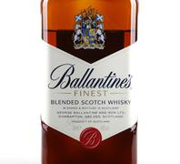 aytos, bulgaria - december 29, 2014: bottle of ballantine's finest old scotch - stock photo