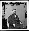 [Abraham Lincoln, U.S. President.  Seated portrait, facing right] Stock Photos