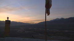 Landscape of Ladakh at Dusk. Jammu and Kashmir, India Stock Footage