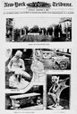 An old Roman garden transferred to Philadelphia, despite many difficulties, b Stock Photos