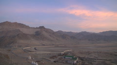 Leh Airport viewed from Spituk Monastery in Leh, Ladakh, India Stock Footage