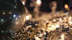 Christmas decorations end of party Stock Footage