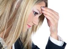 busines woman thinking by - stock photo