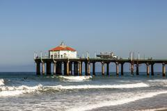 beautiful hermosa beach in california - stock photo