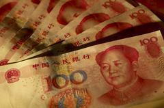 Chinese yuan notes Stock Photos
