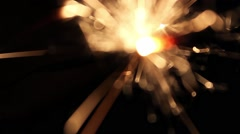 Burning Bengal Lights Sparkler 11 Stock Footage
