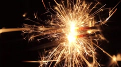 Burning Bengal Lights Sparkler 5 Stock Footage