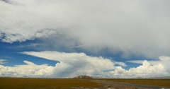 4k huge clouds mass rolling over tibet namtso mountains,roof of the World. Stock Footage