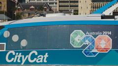 CityCat G20 logo in Brisbane 4K Stock Footage