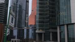 International Business Center & high tech office trade skyscrapers - stock footage