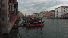 Venice Italy water taxi Grand Canal vacation 4K 023 Stock Footage