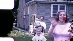 Young Girl in Party Dress 1960s Vintage Film Home Movie 8045 - stock footage